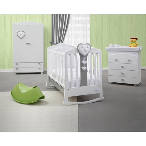 Raffaello bērnu gultiņa ar šūpili Henry