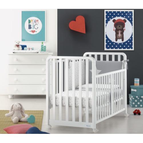 Azzurra bērnu gultiņa transformeris Glam 1X8 White