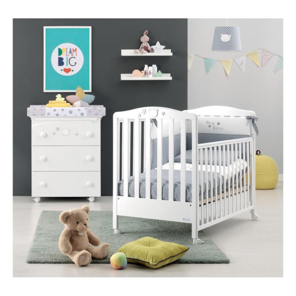 Azzurra bērnu gultiņa Baby Dream White