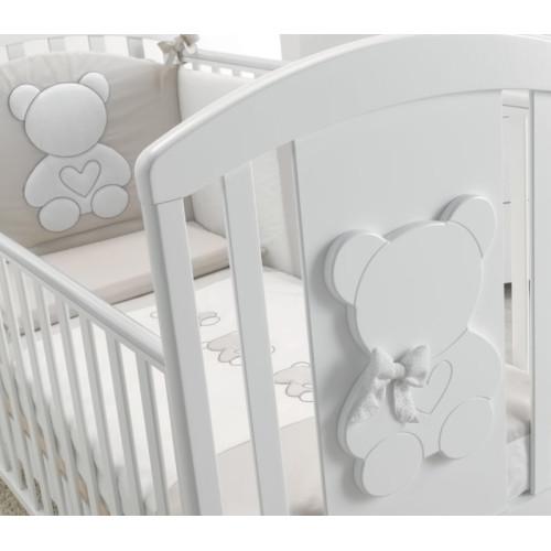 Azzurra bērnu gultiņa Funky White