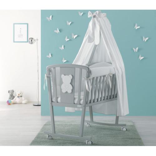 Azzurra bērnu gultiņa ar gultas veļu Funky Culla G/H