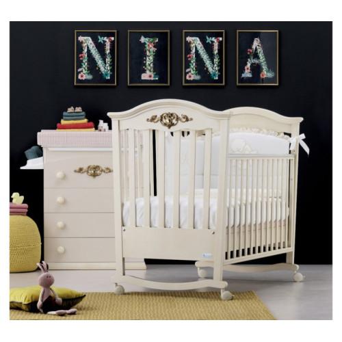 Azzurra bērnu gultiņa Pregio Gold W/I/AW