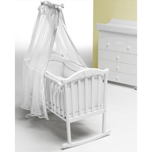 Raffaello bērnu gultiņa ar gultas veļu Didi Culla