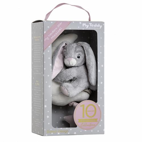 Mūzikālā  rotaļlieta My Newborn Star Bunny Musical Pink bērnu ratos/gultai