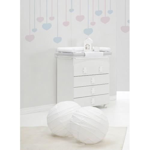 Raffaello kumode ar vanniņu Coccolo soft white