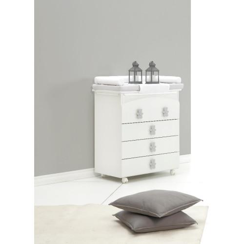 Raffaello kumode ar vanniņu Coccolo soft bicolor (grey)