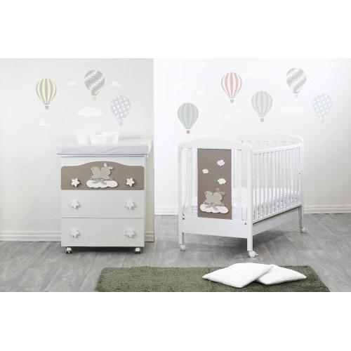 Raffaello bērnu gultiņa Coniglietto bicolor