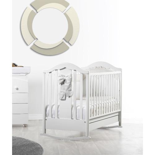 Raffaello bērnu gultiņa ar šūpuli Fiocco white