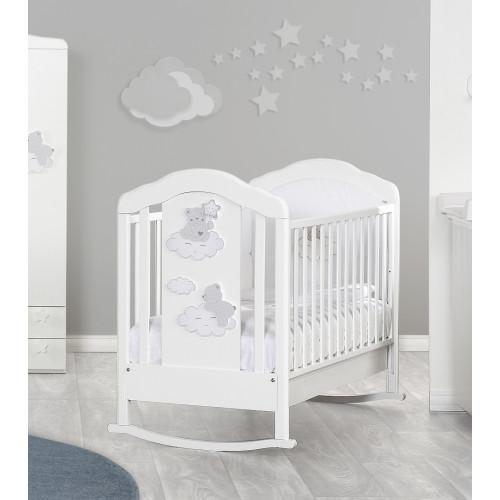 Raffaello bērnu gultiņa šūpulis Coccolo white