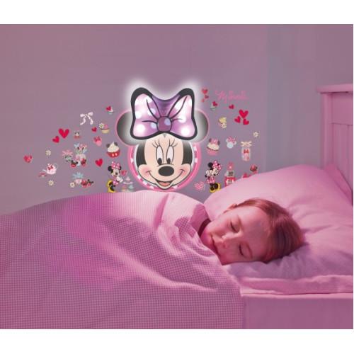 Minnie Mouse sienas uzlīme - nakts lampiņa