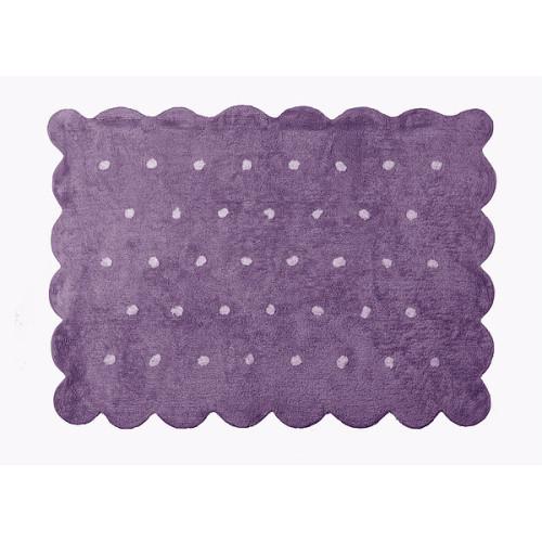 Aratextil Cookie lila mazgājamais paklājs no 100% kokvilnas