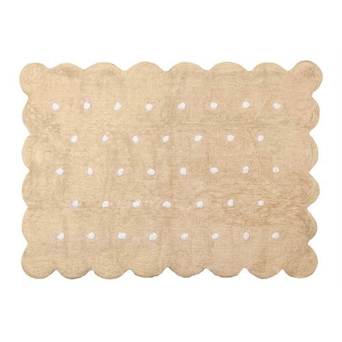 Aratextil Cookie beige mazgājamais paklājs no 100% kokvilnas