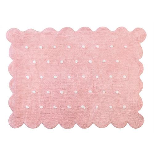 Aratextil Cookie rosa mazgājamais paklājs no 100% kokvilnas