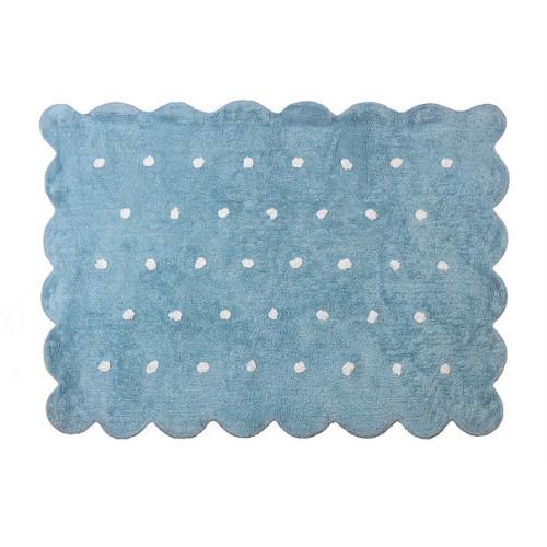 Aratextil Cookie blue mazgājamais paklājs no 100% kokvilnas
