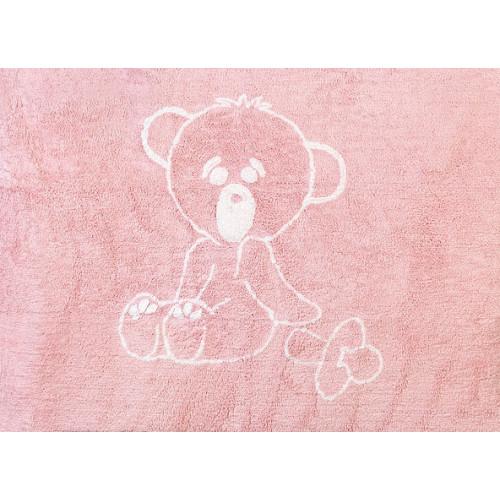 Aratextil Osito rosa mazgājamais paklājs no 100% kokvilnas