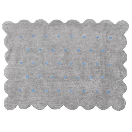 Aratextil Cookie gris/celeste mazgājamais paklājs no 100% kokvilnas