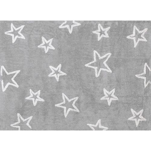 Aratextil Estrellas gris mazgājamais paklājs no 100% kokvilnas