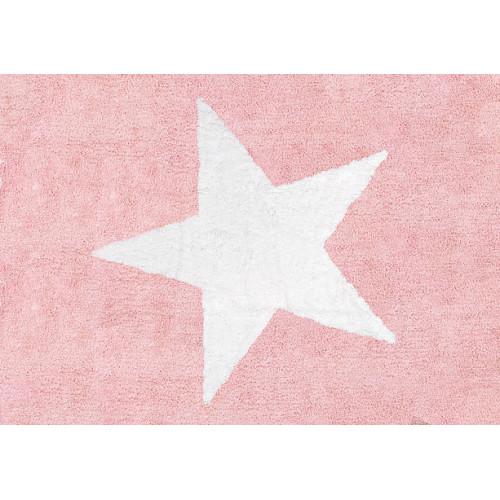 Aratextil Estela rosa mazgājamais paklājs no 100% kokvilnas