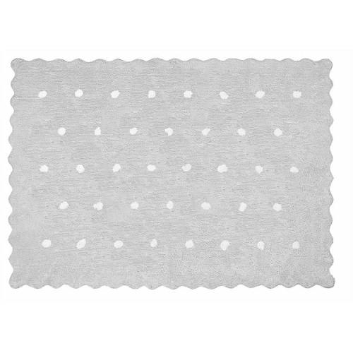 Aratextil Topitos gris mazgājamais paklājs no 100% kokvilnas