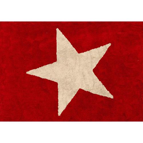 Aratextil Estela rojo mazgājamais paklājs no 100% kokvilnas