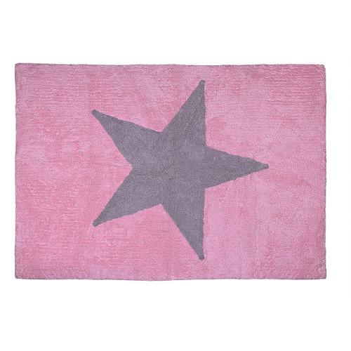 Aratextil Estela rosa/gris mazgājamais paklājs no 100% kokvilnas