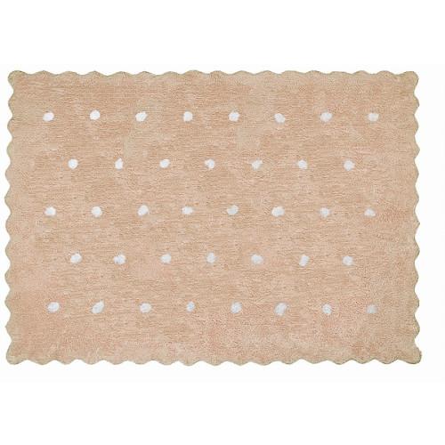 Aratextil Topitos beige mazgājamais paklājs no 100% kokvilnas