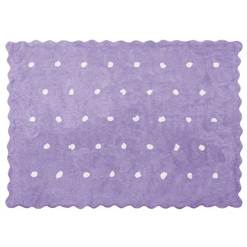 Aratextil Topitos lila mazgājamais paklājs no 100% kokvilnas