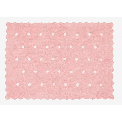 Aratextil Topitos rosa mazgājamais paklājs no 100% kokvilnas