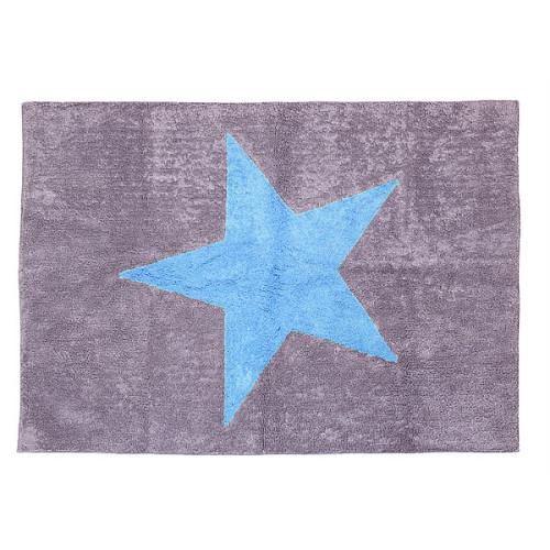 Aratextil Estela gris/celeste mazgājamais paklājs no 100% kokvilnas
