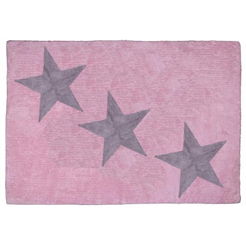 Aratextil Europa rosa/gris mazgājamais paklājs no 100% kokvilnas