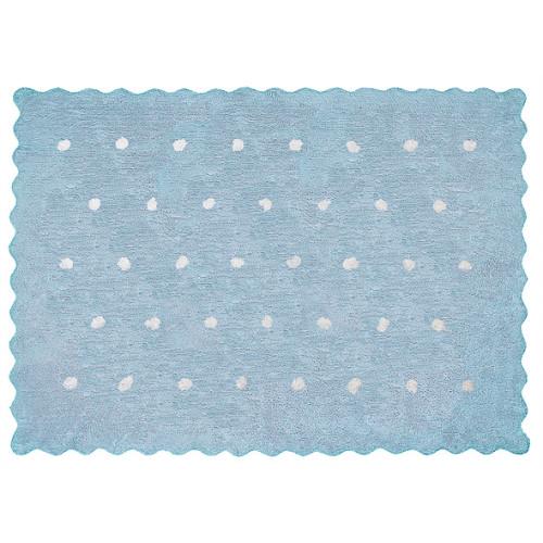 Aratextil Topitos celeste mazgājamais paklājs no 100% kokvilnas