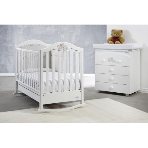 Raffaello bērnu gultiņa ar šūpuli Didi Family