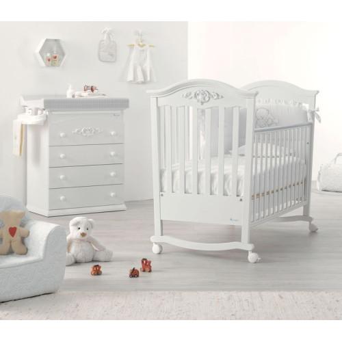 Azzurra bērnu gultiņa Pregio W/I/AW