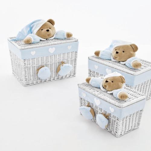 NaNan PUCCIO rotaļlietu kaste vidējā Light Blue