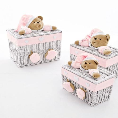 NaNan PUCCIO rotaļlietu kaste lielā Pink