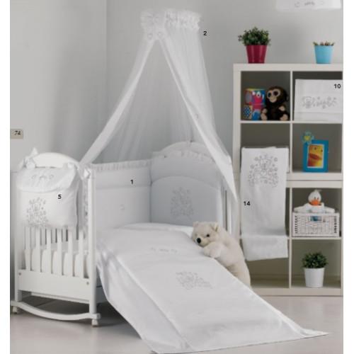 Raffaello bērnu gultas veļa Orsetto white