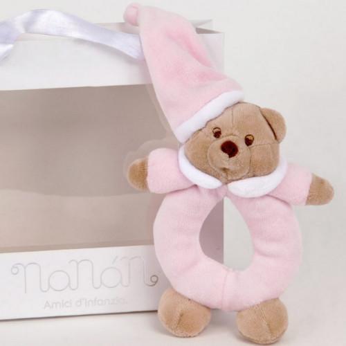 NaNan apaļa grabulis  Puccio pink