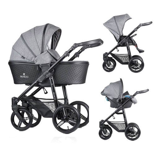Venicci Shadow Denim Grey 3 in1