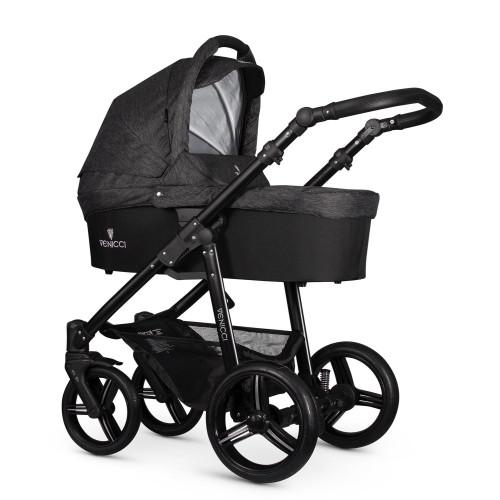 Venicci Soft Denim Black 2 in1 bērnu rati